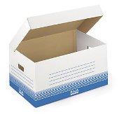 Weiße Klappdeckel-Archivboxen Standard