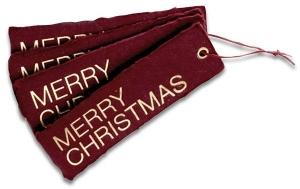 Merry Christmas Anhänger<br/>mit Heißfolienprägung