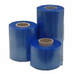 Schlauchfolie 100 µ, blau-transparent