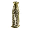 Flaschenbeutel Organza<br/>Ornament mit Zugband