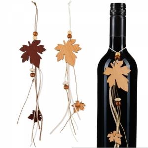 Anhänger Weinblatt aus Holz