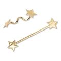 Verschlussclip Stars<br/>mit Draht