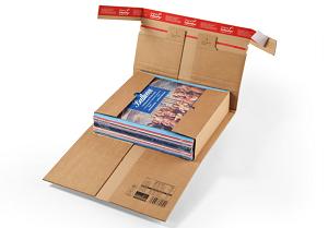 Robuste Versandverpackung<br/> mit Sicherungslaschen, braun