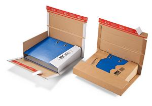 Flexible Ordnerversandverpackung<br/>mit doppeltem SK-Verschluss