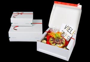 Weiße Geschenkbox, offsetkaschiert
