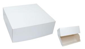 Daily Plus Tortenkarton mit Klappdeckel weiß