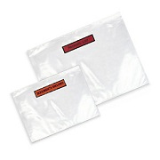 """Transparente Dokumententaschen """"Packing List"""" im Schriftfeld"""