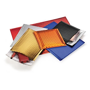Farbige Luftpolster-Versandtaschen mit Haftklebeverschluss