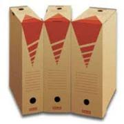 Ablageboxen, braun-rot