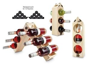 Rackpack Holzträger für Weinflaschen
