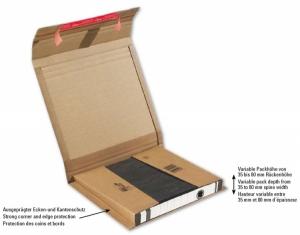 Flexible Ordnerversandverpackung,<br/>braun