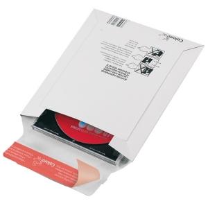 CD-Jewelcase-Versandtasche<br/>aus Vollpappe, weiß
